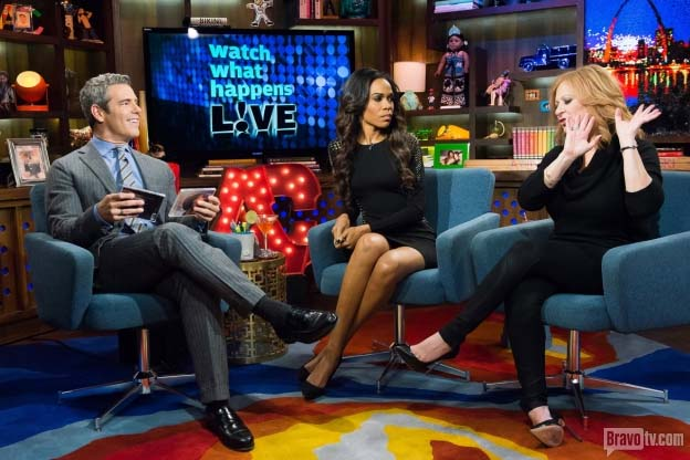 Michelle williams stops by bravo s watch what happens live